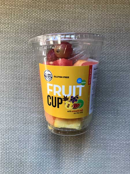Fruit cup in plastic cup