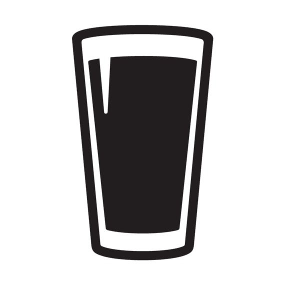 Black Beer Glass Silhouette