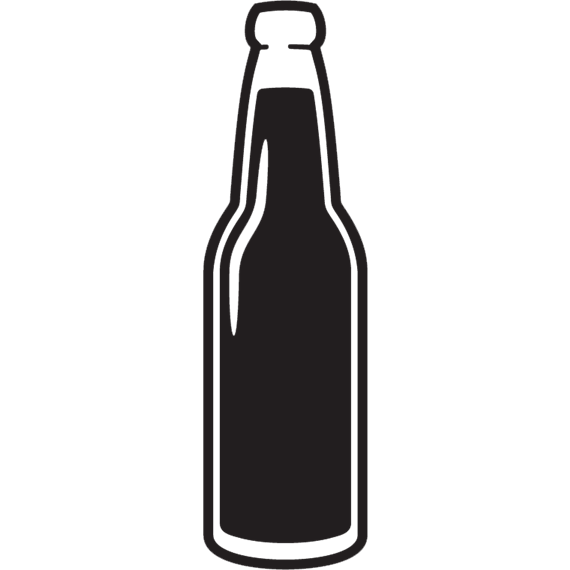 Black Beer Bottle Silhouette
