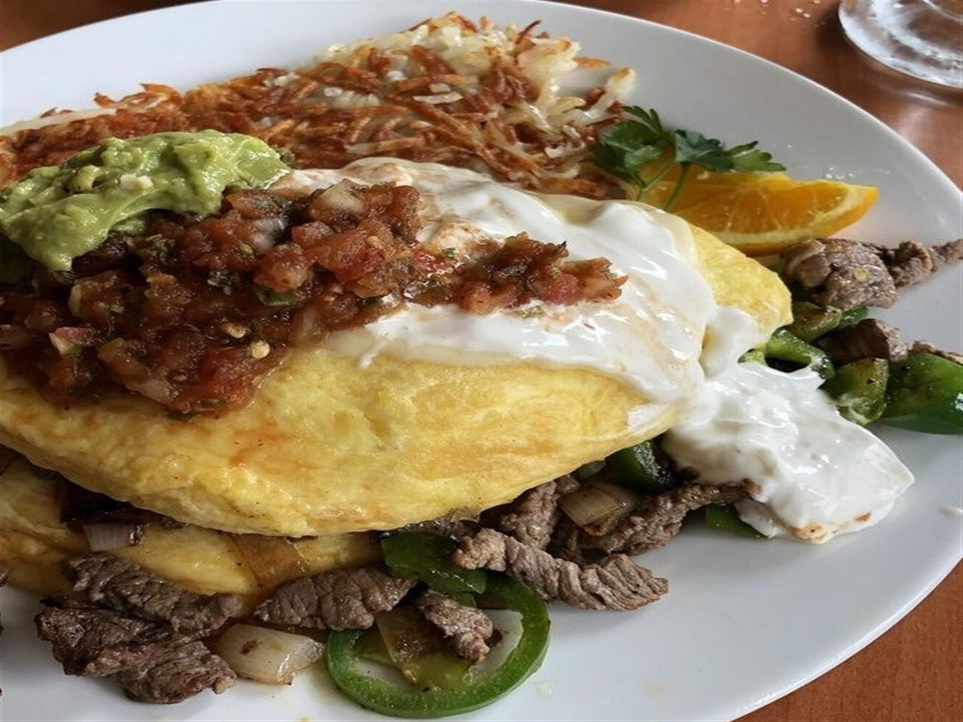 Steak Fajitas Omelete