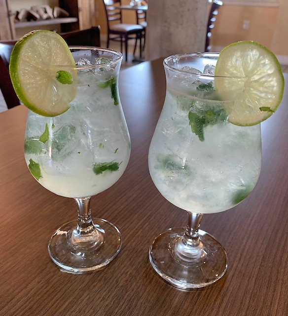 mojito with mint and lime