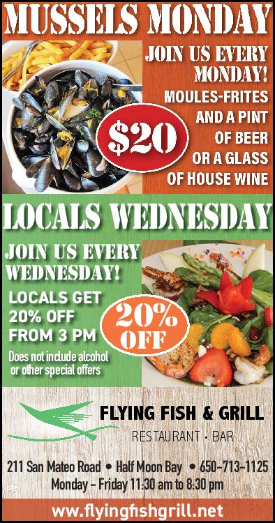 Mussel monday and locals wednesday