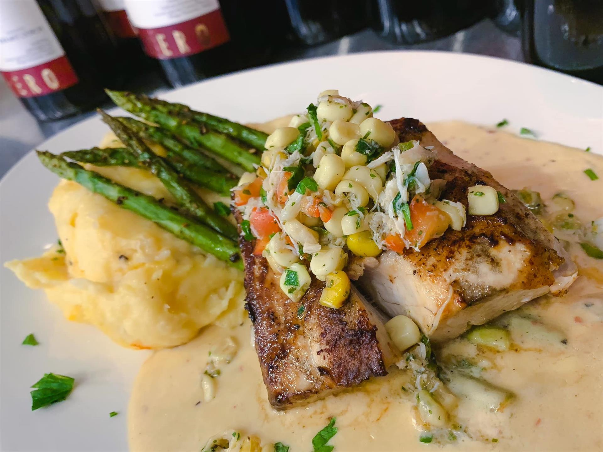 Itavie's Grilled Mahi-Mahi dinner special, an Italian restaurant in Spotsylvania and Fredericksburg, Virginia