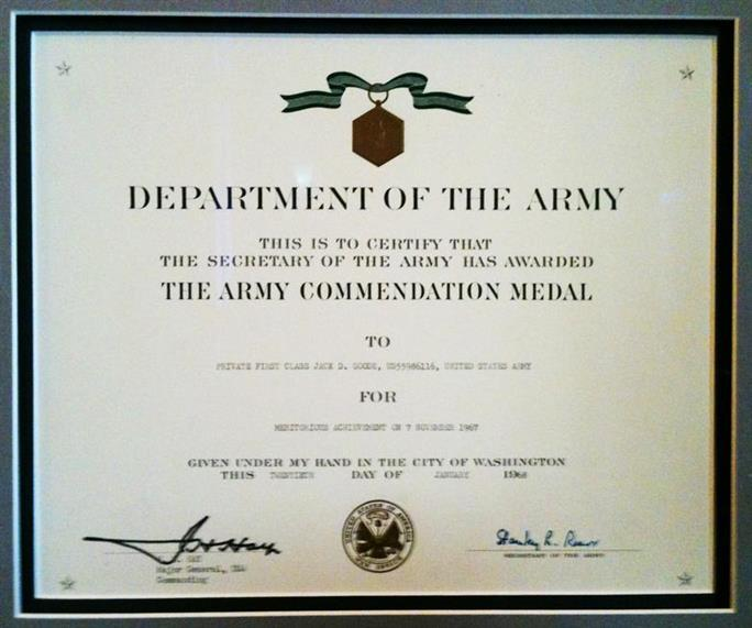 The Army Commendation award