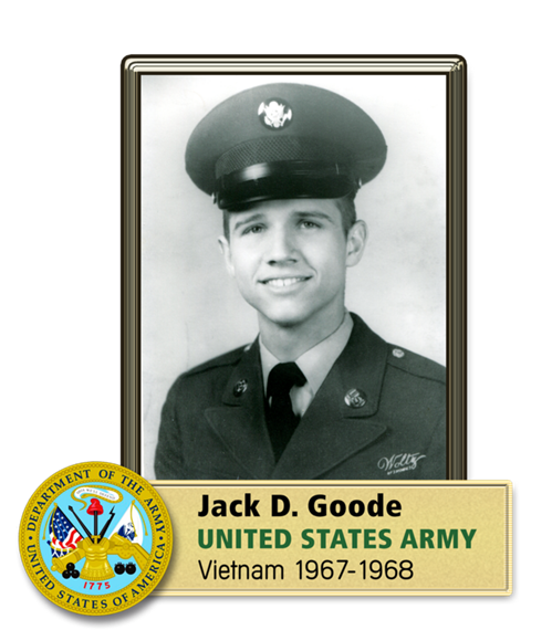 Jack D. Goode. United States Army. Vietnam 1967-1968