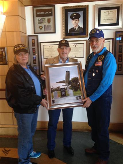 Nancy Williams and Jack Kegley with David Goode pictured center