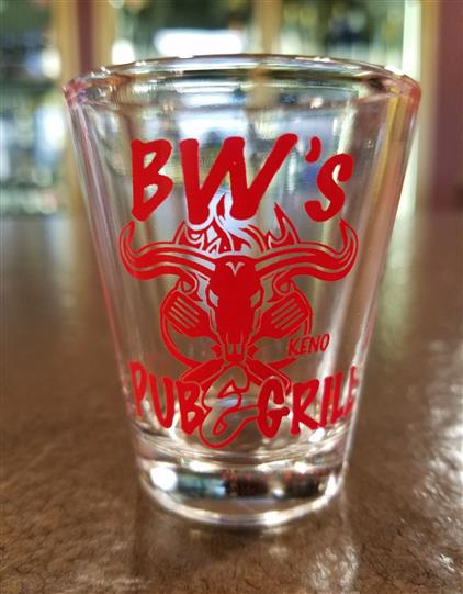 bw's pub & grill shot glass