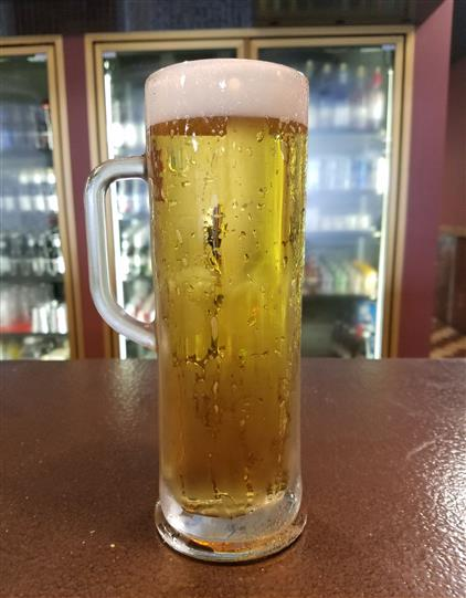 beer in a tall mug
