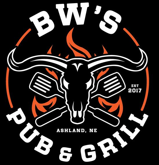 BW'S Pub & Grill est 2017. A Bull with two spatulas