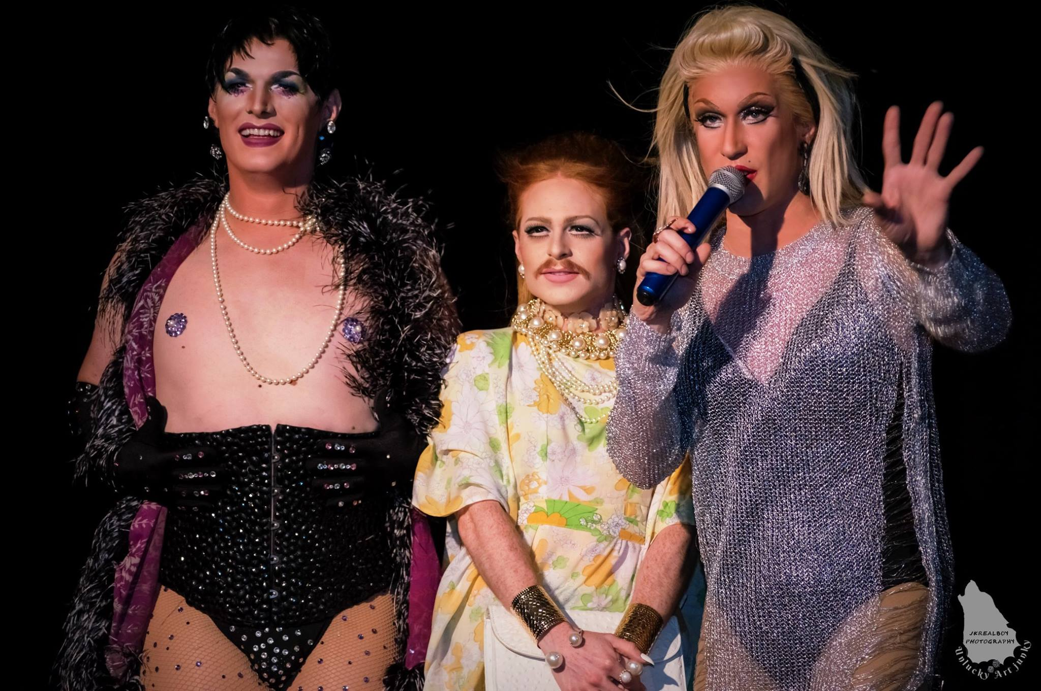 Miss Fire Island pageant contestants on stage
