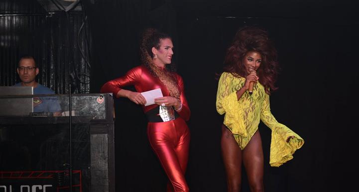 performers on stage in costume