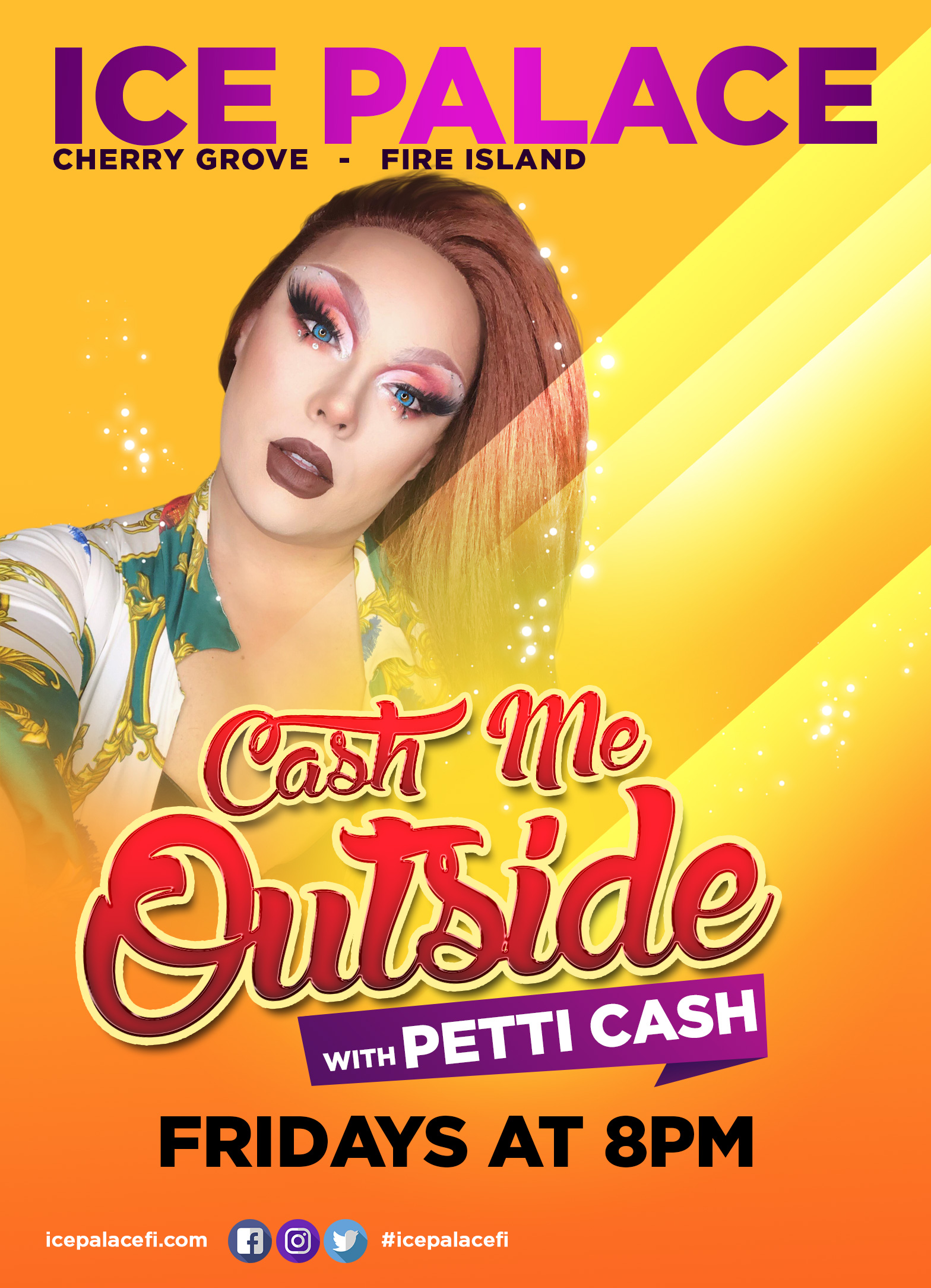 Cash me outside with Petti cash fridays at 8pm