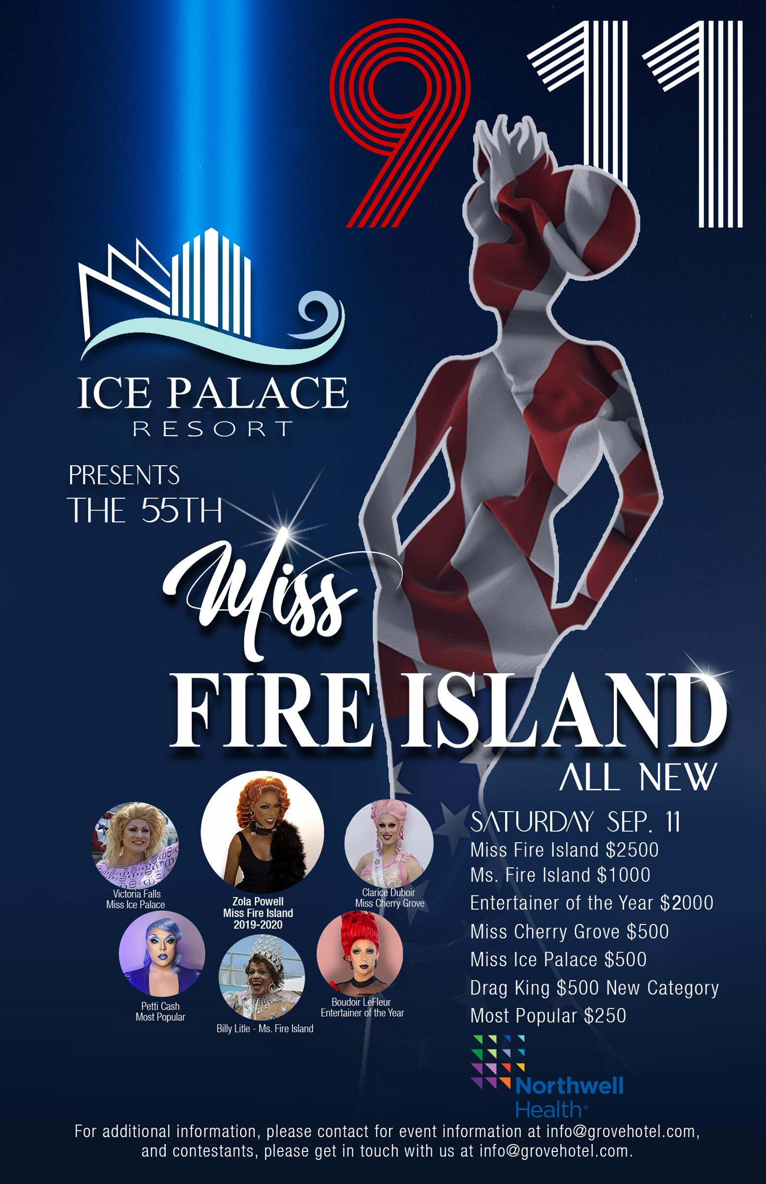 Flyer for the 55th annual Miss Fire Island paegent