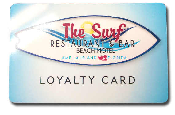 The Surf Restaurant and Bar Beach Motel Loyalty Card