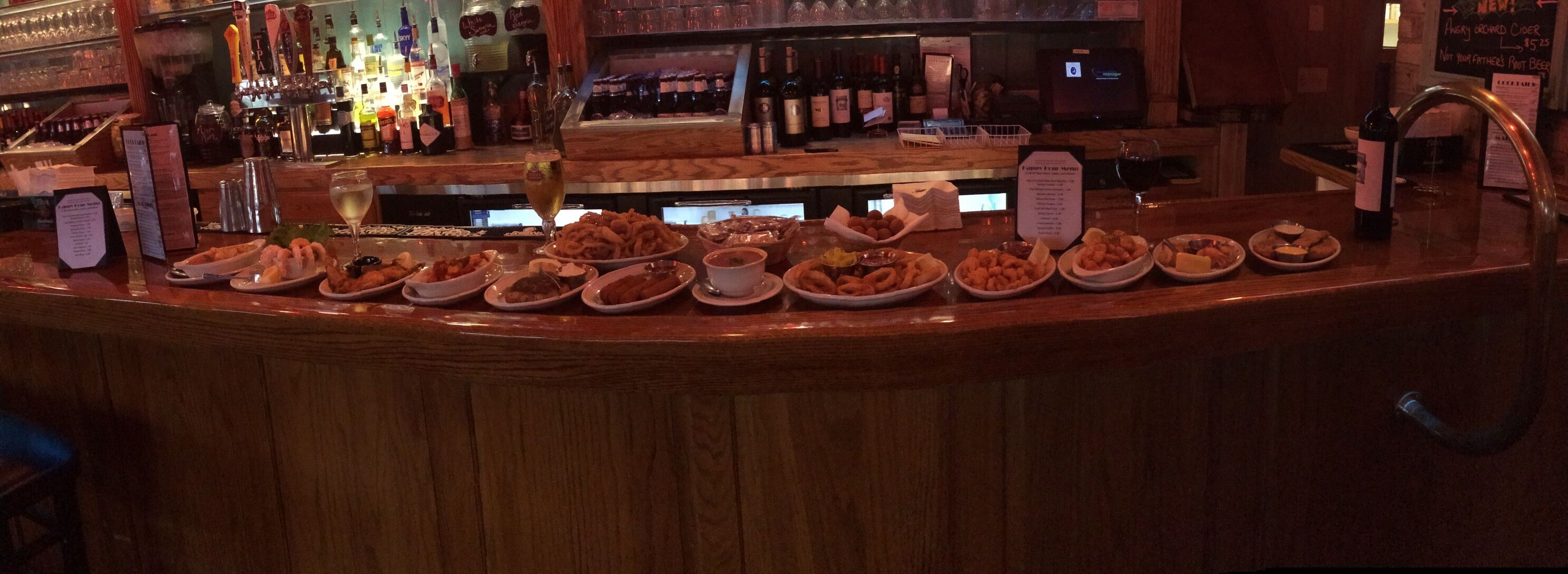 Our Happy Hour offerings at the Bar
