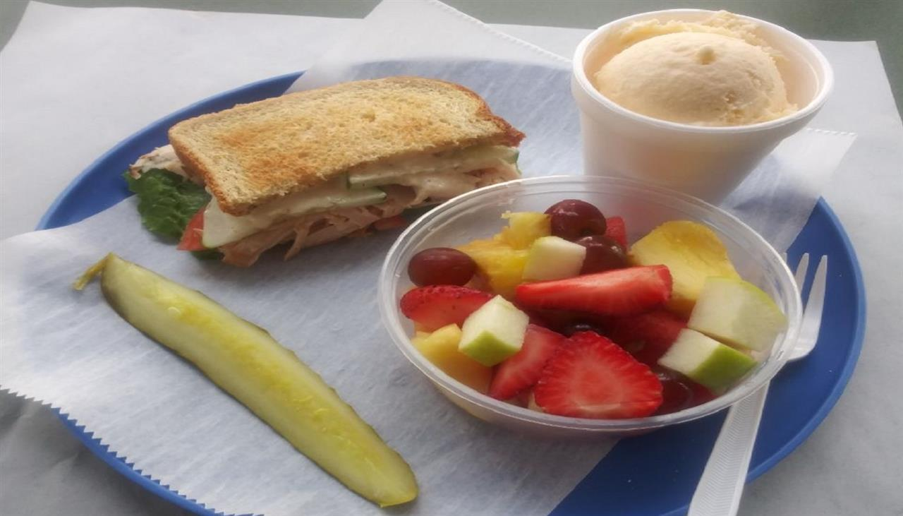#3: Half Sandwich and Fruit or Pasta