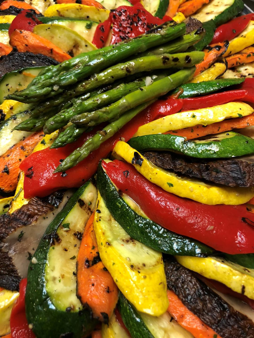 Asparagus and roasted peppers