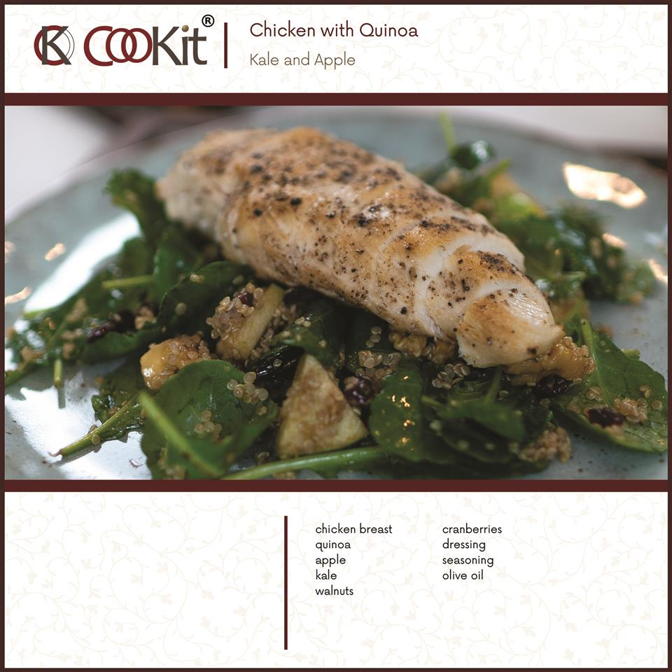 Chicken with Kale and Apple