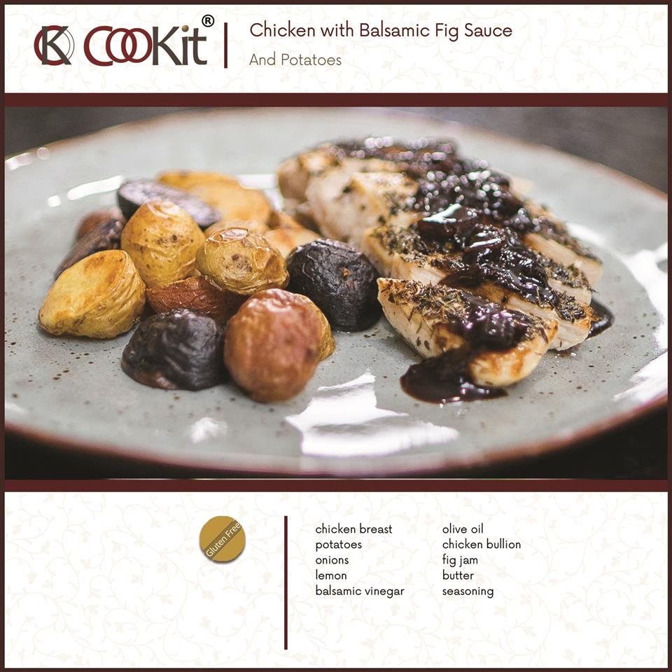 Chicken with Balsamic Fig and Potatoes