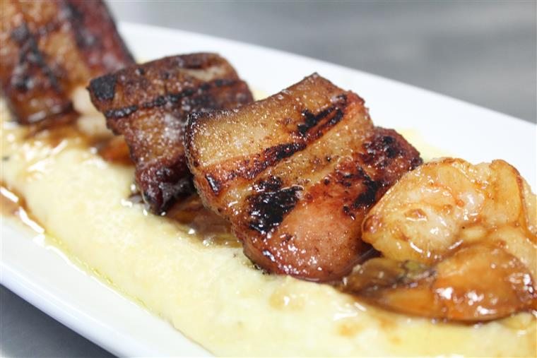 pork belly over grits