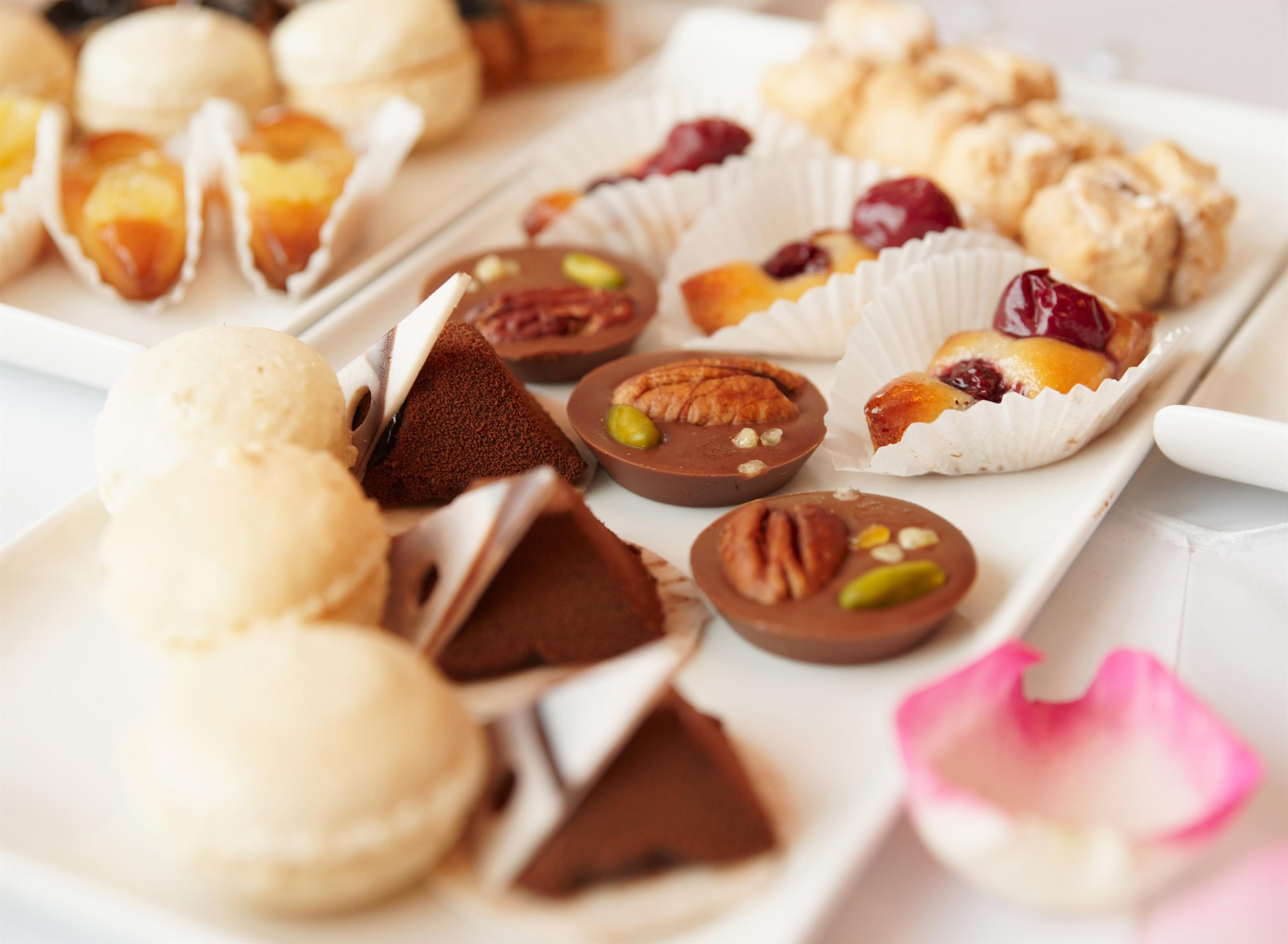 An assortment of mini desserts