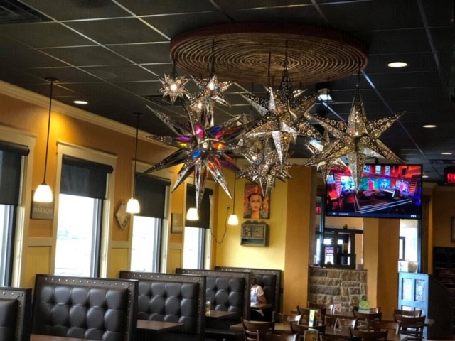 Light fixtures made of star lamps