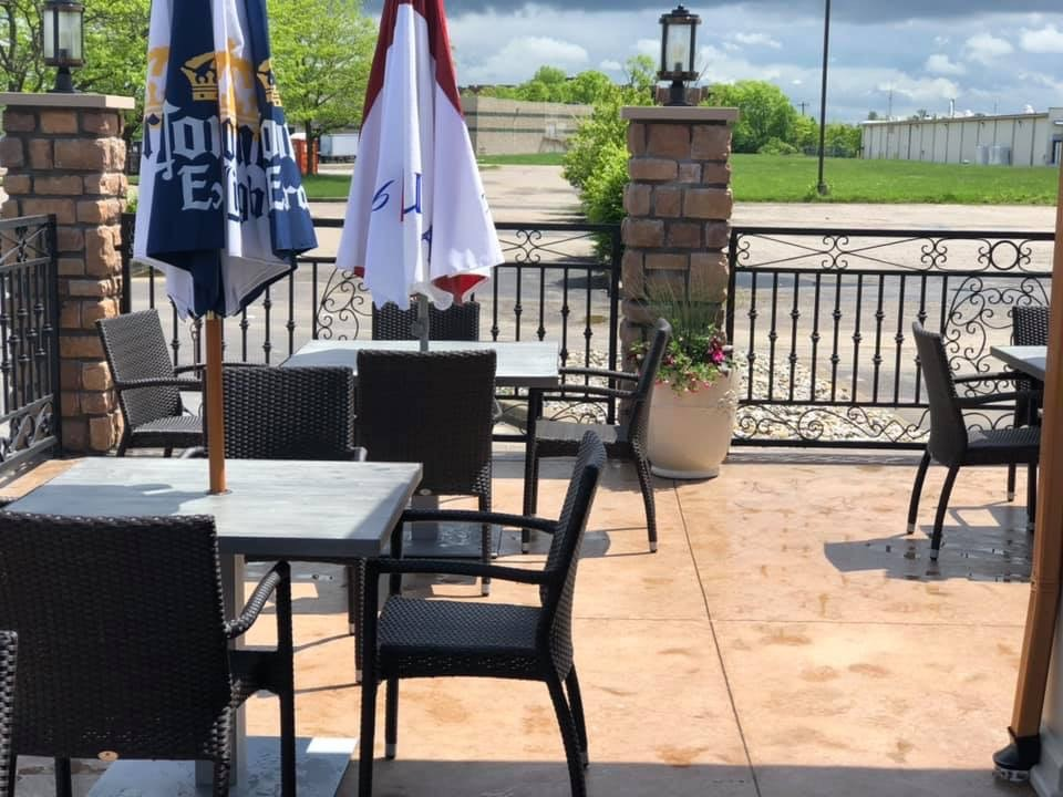 Patio seating outside