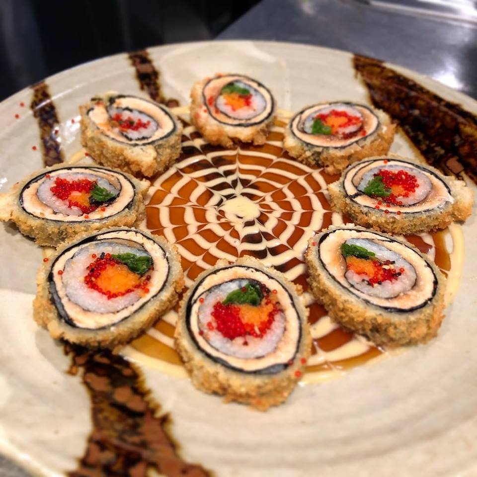 Dragon Eyes sushi pieces topped with tobiko
