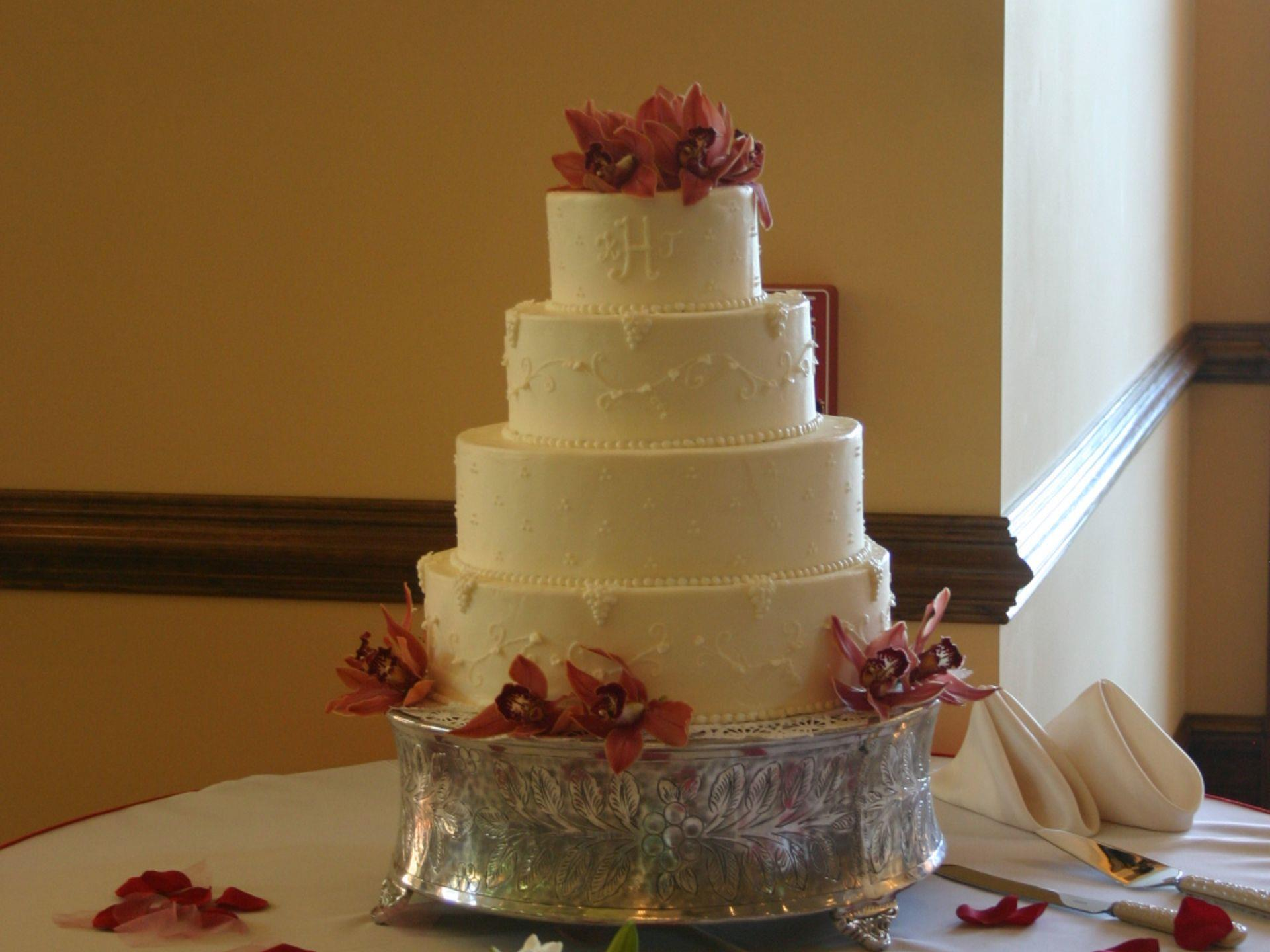 Multi-tier wedding cake