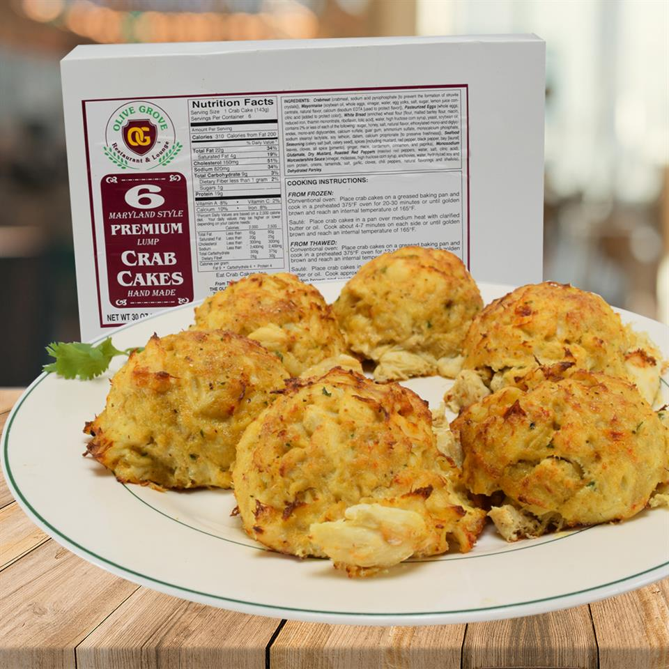 Six Pack Frozen Crab Cake
