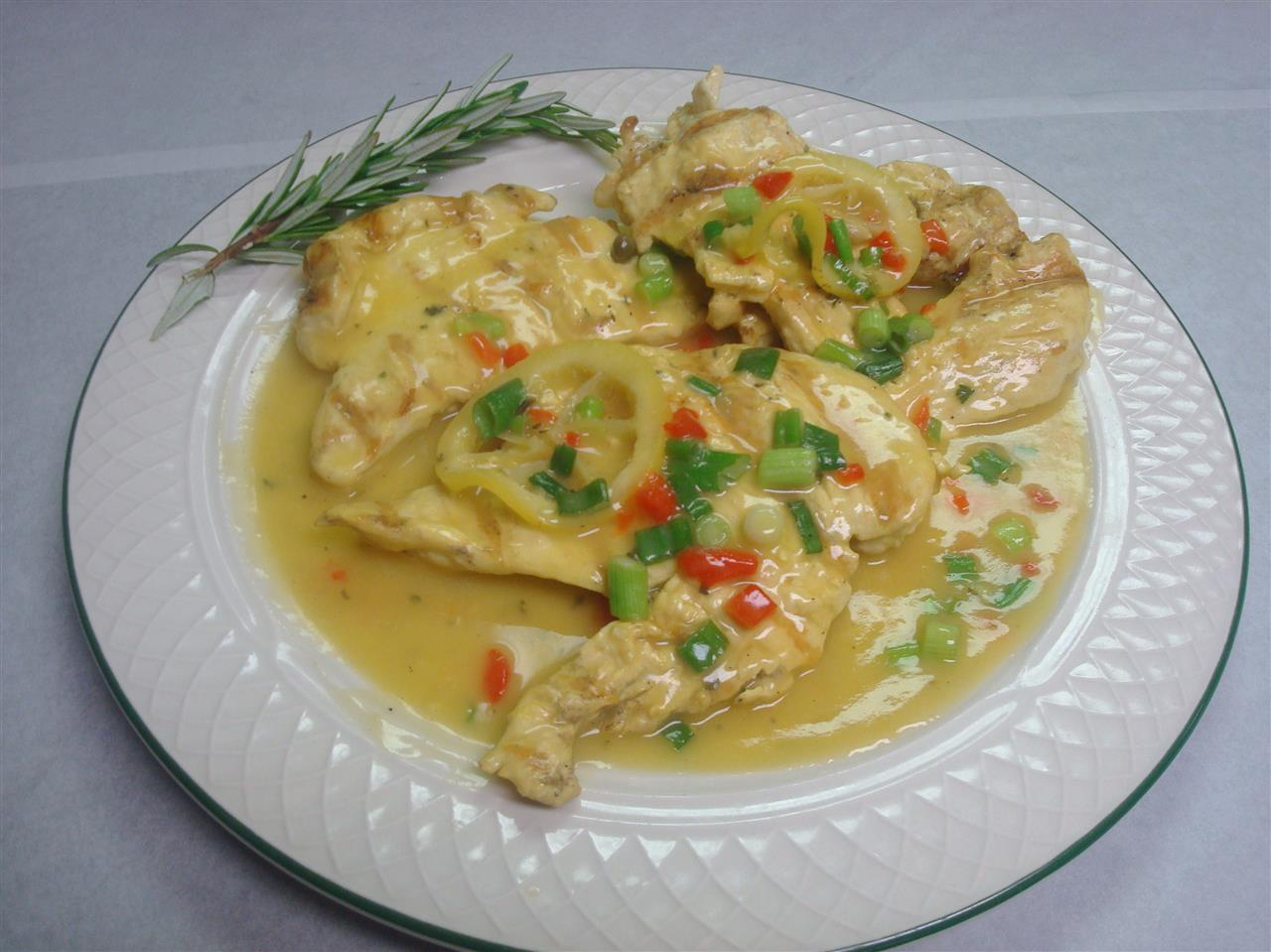 Grilled Chicken Picatta