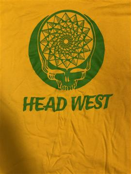 Name: Head West Yellow T-Shirt