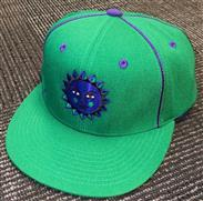 Head West Custom Green Snap Back Hat