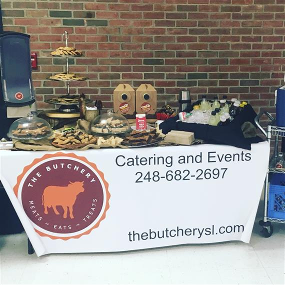 the butchery catering and events table set up