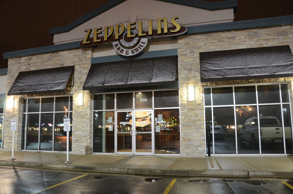 Exterior of Zeppelin's Bar & Grill