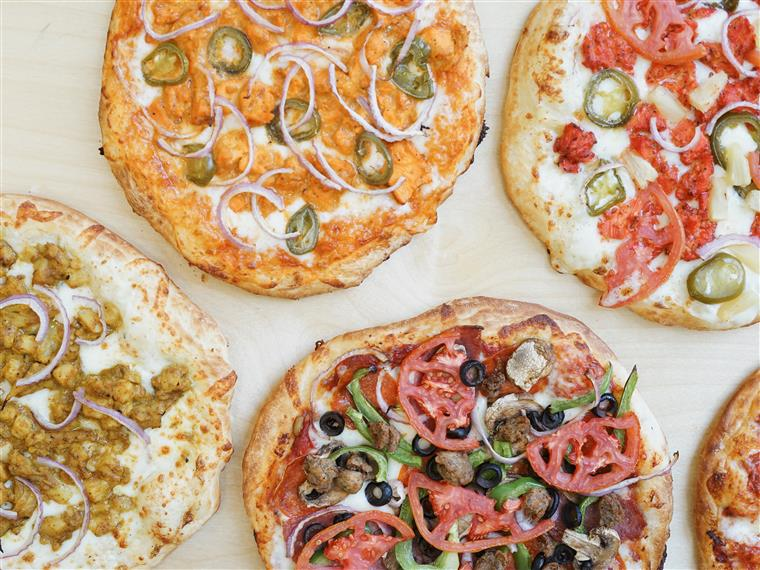 various asorted pizzas