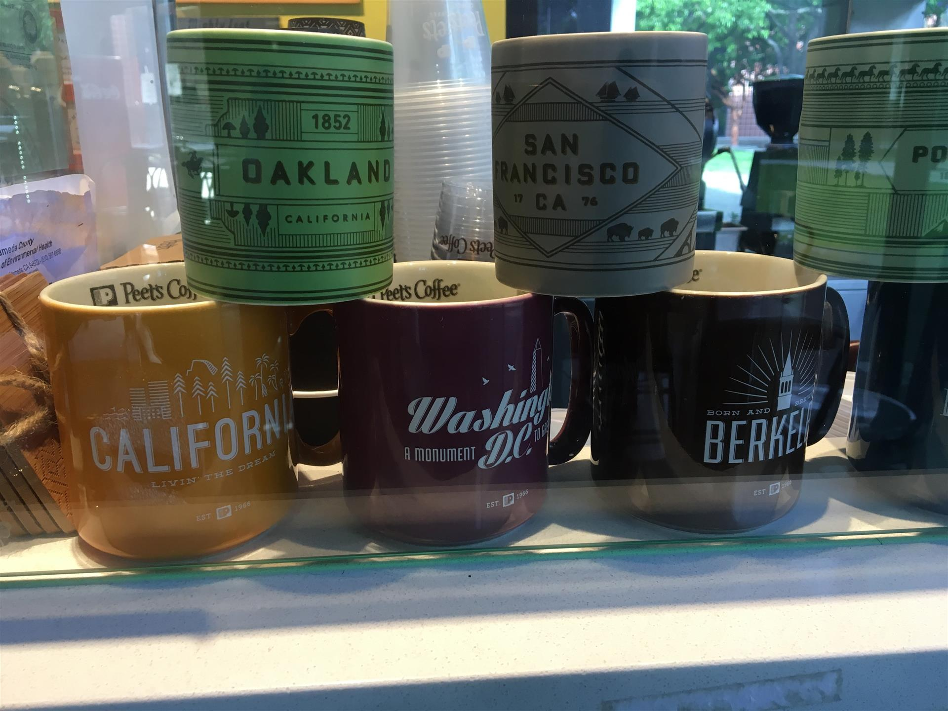 Assortment of Coffee Cups