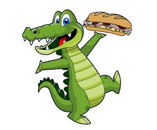 Gator with Sandwich
