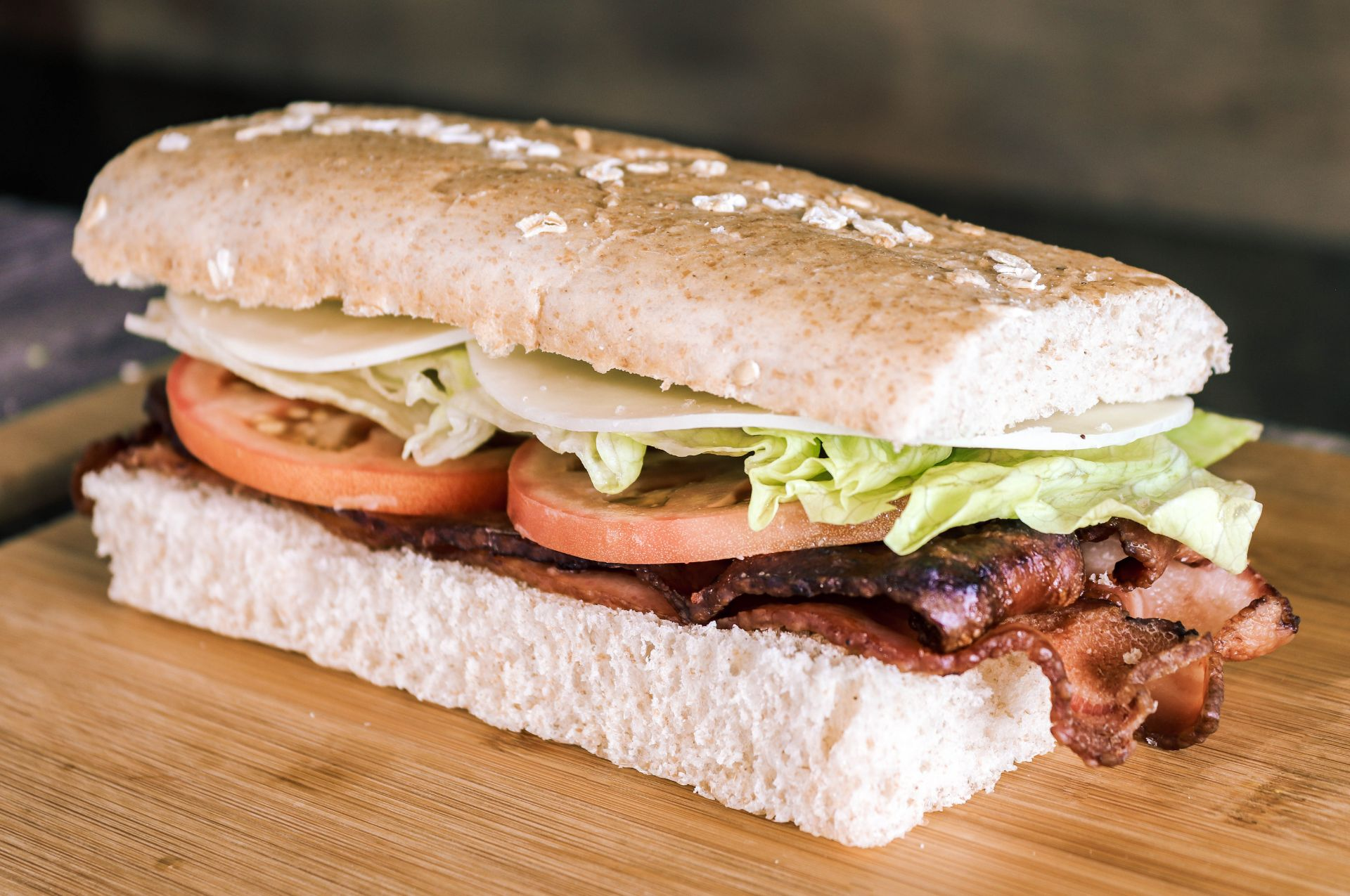 BLT sandwich. Bacon, lettuce and tomato