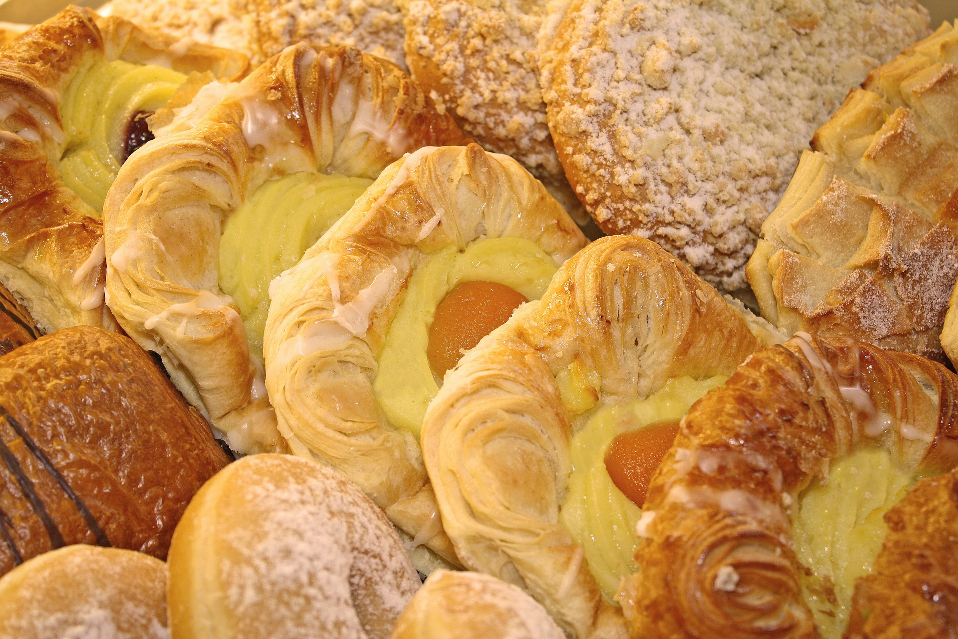 assortment of pastries