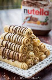 nutella crepes layered on top of each other