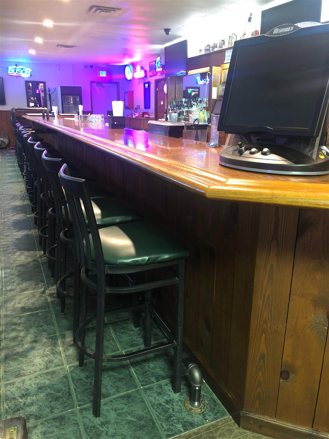 main bar area with several chairs