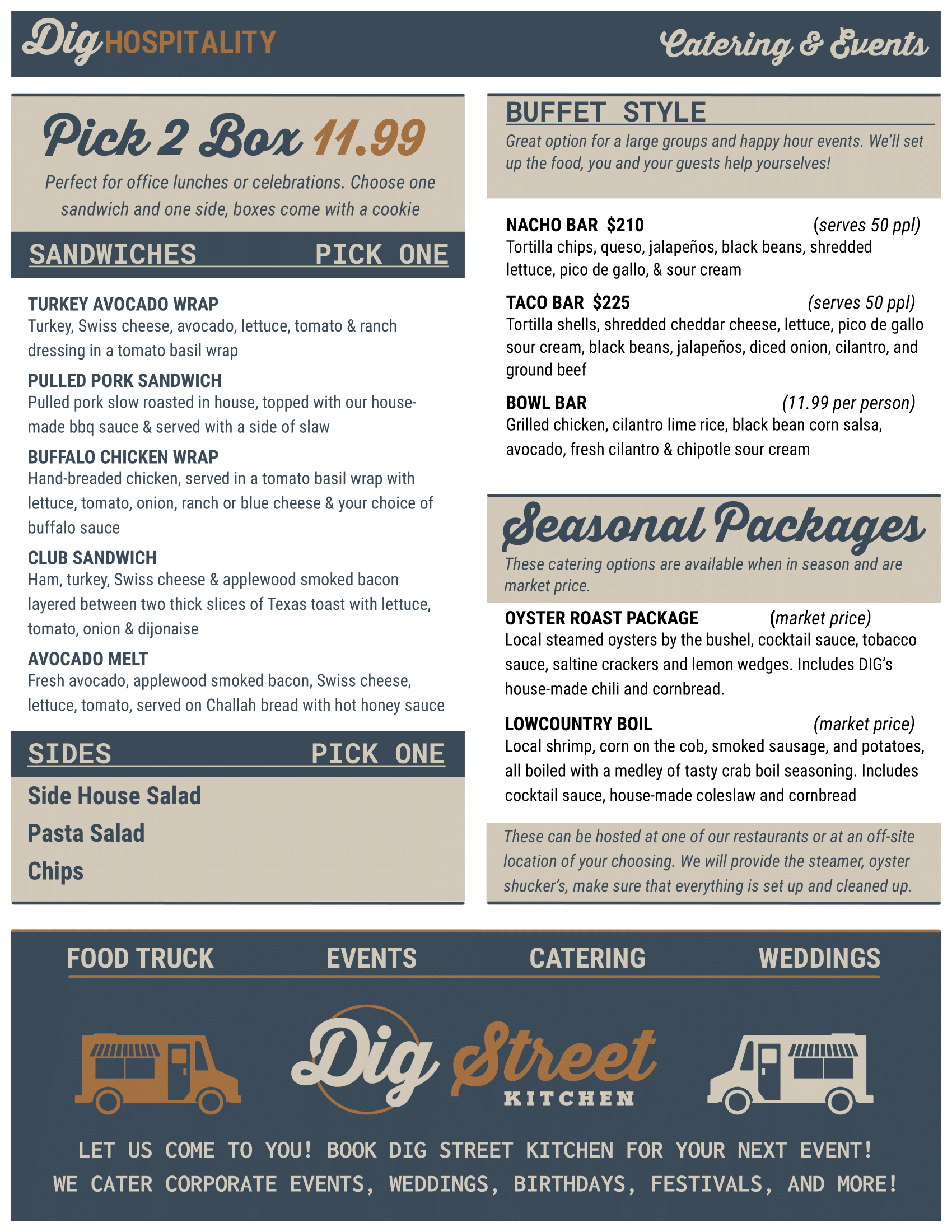 DIG Hospitality - Catering & Events : Page 2