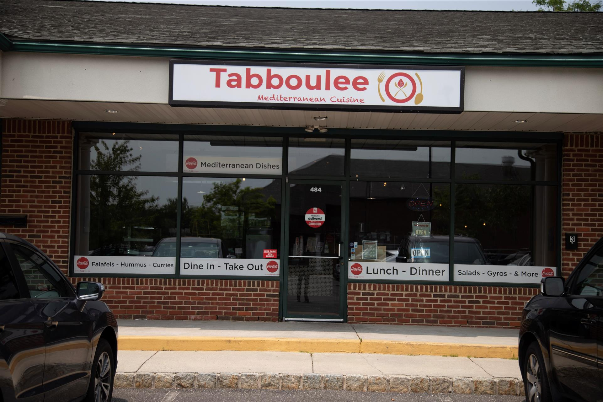 exterior of business with the Tabboulee sign