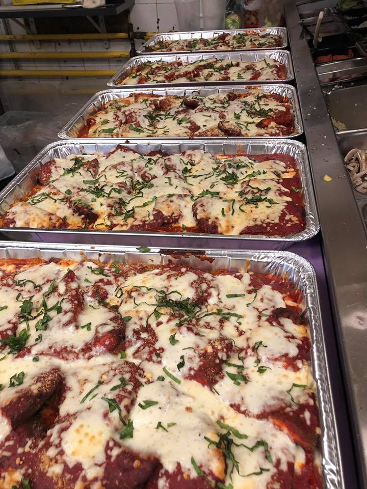 Catering trays of Chicken Parm