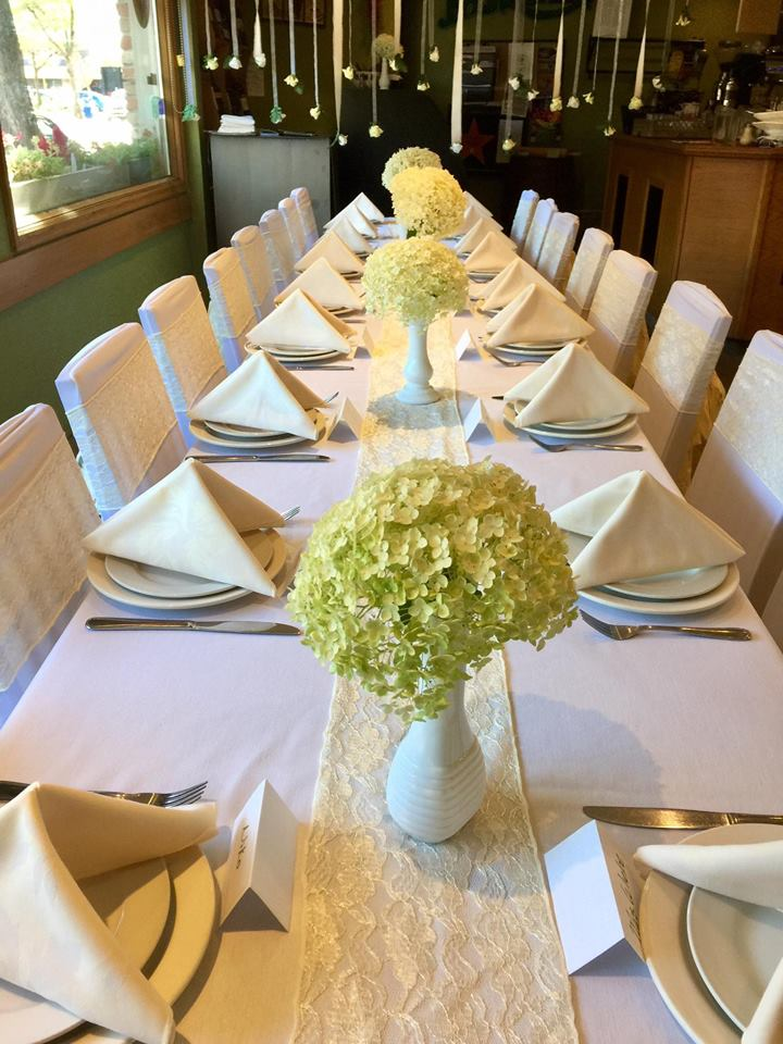 catering dining area with elegant table settings