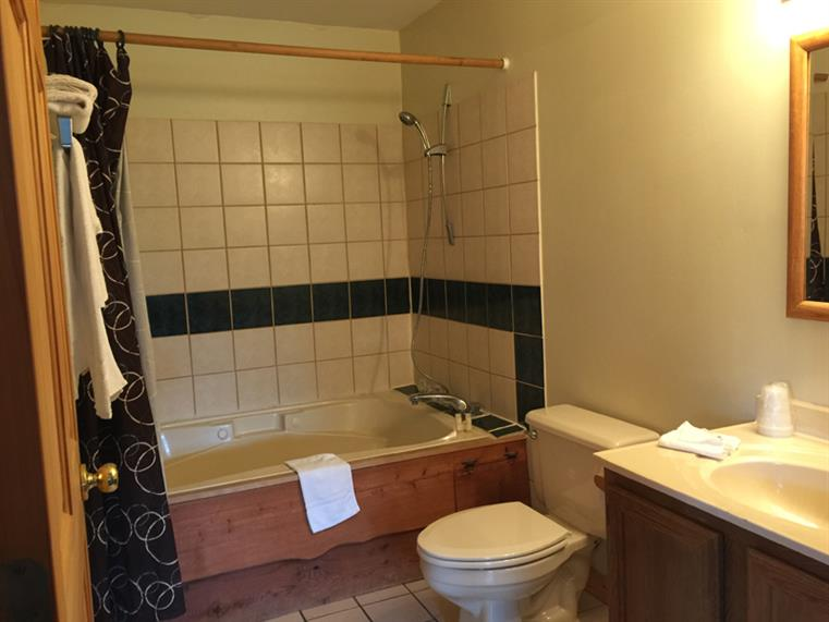 Bathroom with tub/shower, toilet, sink