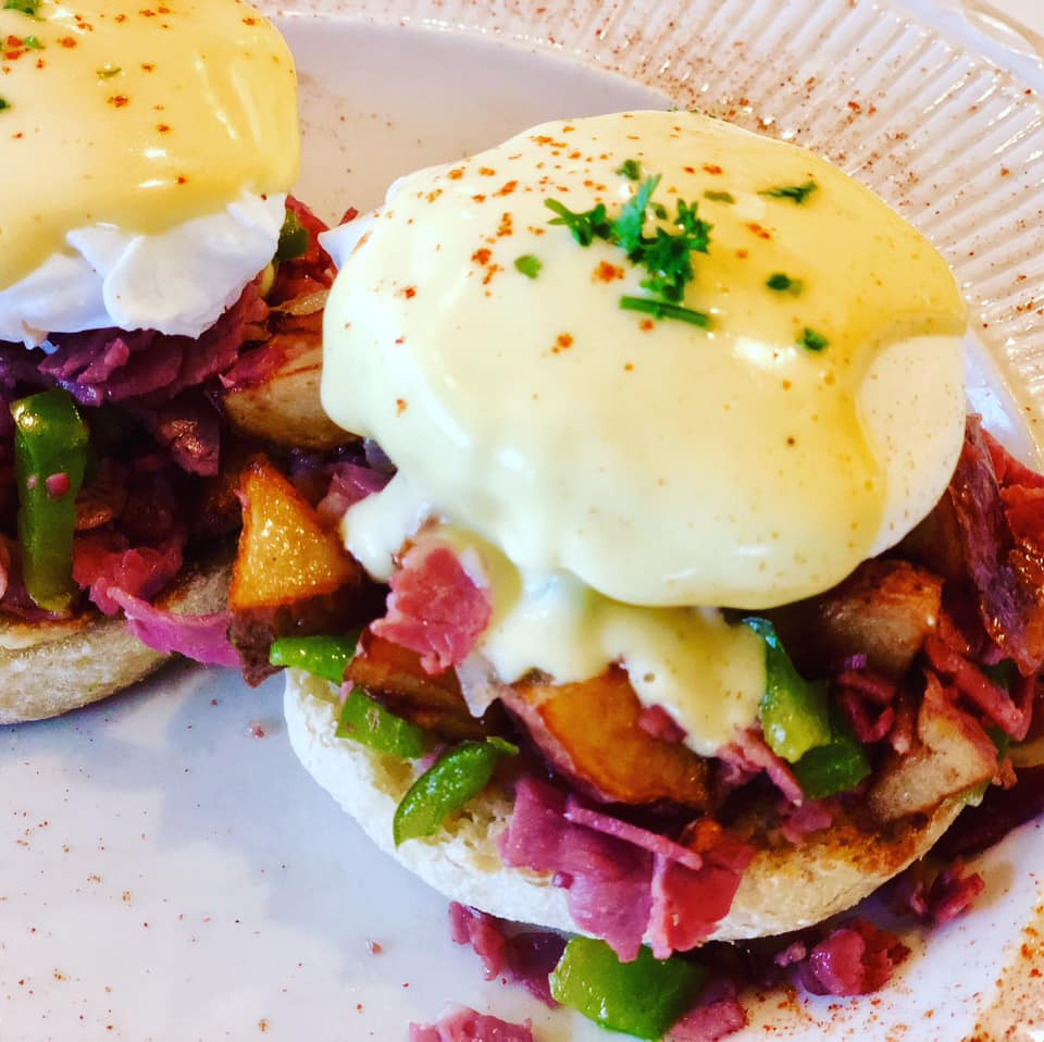 two eggs benedicts
