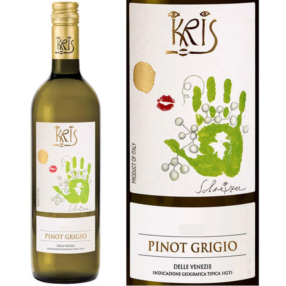Bottle of Kris Pinot Grigio
