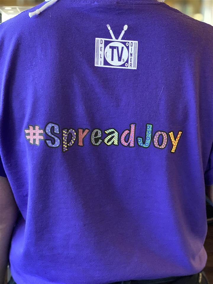 Sread Joy Purple T-Shirt
